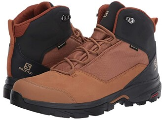 Salomon Outward GTX (Peat/Black/Burnt Olive) Men's Shoes