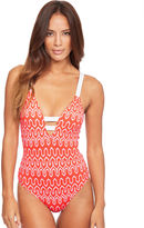 Seafolly Optic Wave Deep V Maillot