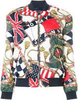 Tommy Jeans flag print bomber jacket