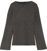 The Row Atilia Ribbed Cashmere Sweater - Dark gray