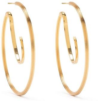 Panconesi Colonnato upside-down hoop earrings