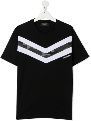 Neil Barrett Kids TEEN chevron print T-shirt