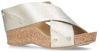 Carvela Sooty Metallic Leather Wedges