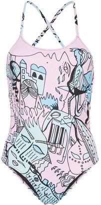 Ellie Rassia Far Away printed swimsuit