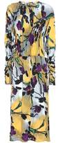 Marni Printed crinkled crêpe dress