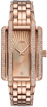 JBW 18K Rose Gold Over Stainless Steel 1/8 CT. T.W Genuine Diamond Bracelet Watch-J6358c