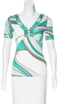 Emilio Pucci Short Sleeve Abstract Print Top