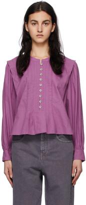 Isabel Marant Etoile Purple Okina Blouse