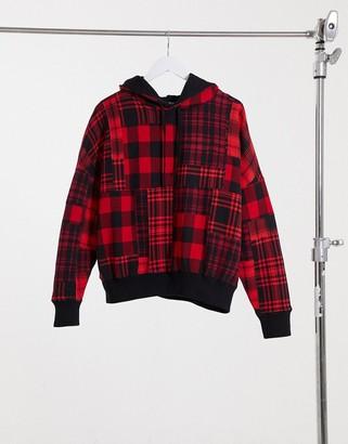 Polo Ralph Lauren fleece hoodie in red check