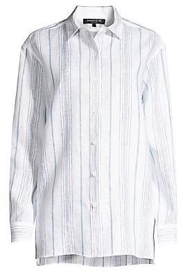 a0426857fab Lafayette 148 New York Women's Everson Linen Button-Down Shirt