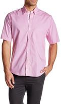 Tailorbyrd Roosevelt Short Sleeve Plaid Trim Fit Shirt