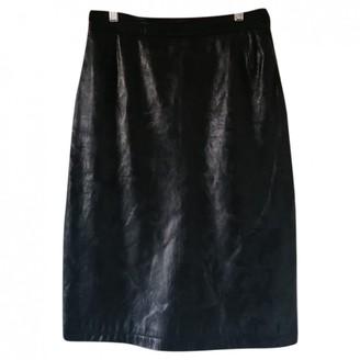 Genny Black Leather Skirt for Women Vintage