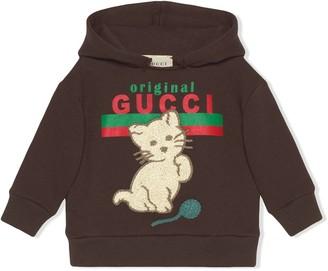 Gucci Kids Original Gucci cat print hoodie