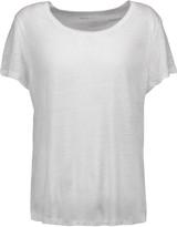 Majestic Split-back linen-jersey T-shirt