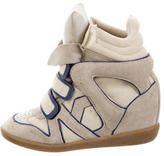 Isabel Marant Leather & Suede High Top Sneakers
