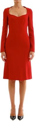 Dolce & Gabbana Dress In Cady Red