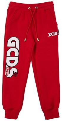 GCDS Embroidered Logo Cotton Sweatpants