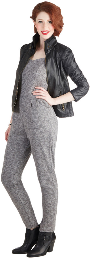 Staying Out Slate Jumpsuit