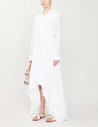 Erika Pena Eva Rumba cotton-voile midi dress