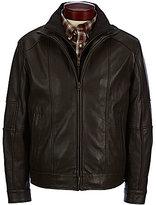 Roundtree & Yorke Lambskin Jacket with Herringbone Bib