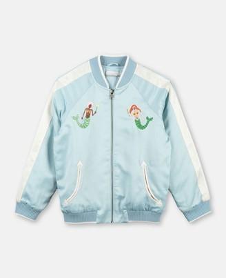 Stella McCartney mermaids satin bomber jacket