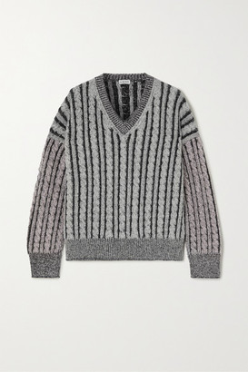 Loewe Cable-knit Wool Sweater - Gray