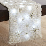 Pier 1 Imports Arctic Snowflake Faux Fur LED Light-Up Table Runner