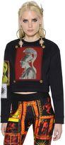 Fausto Puglisi Embellished Neoprene Scuba Sweatshirt