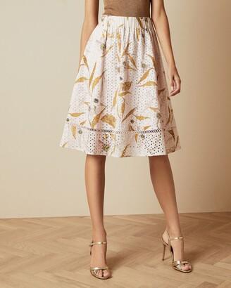Ted Baker Cabana Broderie Anglaise Skirt
