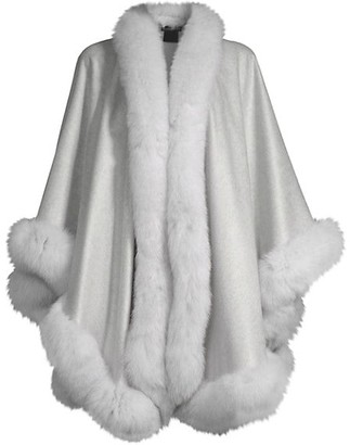 Sofia Cashmere Fox Fur & Cashmere U-Cape