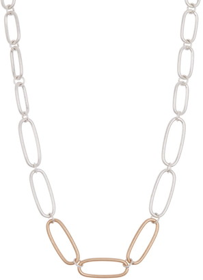 Area Stars Two-Tone Chain Link Collar Necklace