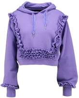Even&Odd CROPPED RUFFLE Sweatshirt purple