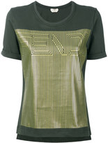 Fendi gold-tone motif T-shirt