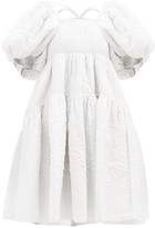 Cecilie Bahnsen - Edwig Tie-back Quilted Silk Dress - Womens - White