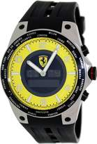 Ferrari Men's FE-05-ACC-YW Black Rubber Swiss Multifunction Watch with Dial