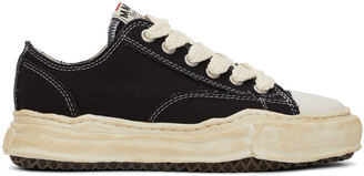 Miharayasuhiro Black Over-Dyed OG Sole Peterson Sneakers
