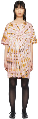 Raquel Allegra Pink Tie-Dye T-Shirt Dress