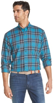 Izod Men's Sportswear Flannel Plaid Button-Down Shirt