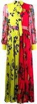 MSGM Floral-Print Pleated Dress