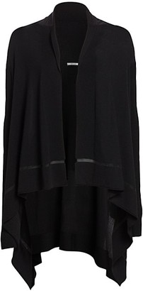 Wolford Mantella Virgin Wool Poncho Cardigan