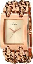 GUESS GUESS? U0073L2 Women's Double-Chain Bracelet Rose Gold Tone Watch