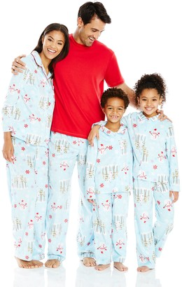 Karen Neuburger Family Minky Fleece Collared Snowman Holiday Matching Pj Set