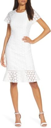 Lilly Pulitzer Aliza Polka Dot Lace Shift Dress