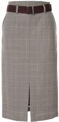 Loveless high-waisted plaid skirt