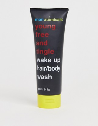 Anatomicals Manatomicals young free and tingle wake up hair/body wash