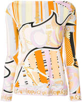 Emilio Pucci fitted longsleeved blouse