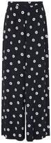 LK Bennett Taylor Navy Printed Trousers