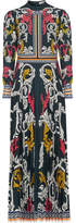 Mary Katrantzou Mizar Pleated Printed Crepe Gown - Petrol