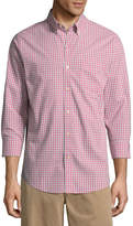 ST. JOHN'S BAY Long Sleeve Slim Fit Plaid Button-Front Shirt