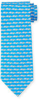 Salvatore Ferragamo Dog Tug-Of-War Printed Silk Tie, Aqua